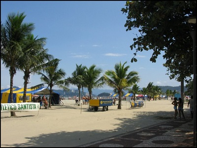 Boqueirao Beach in Santos