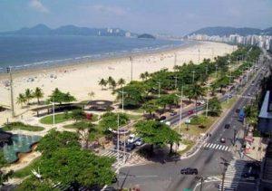 Praia do Gonzaga em Santos