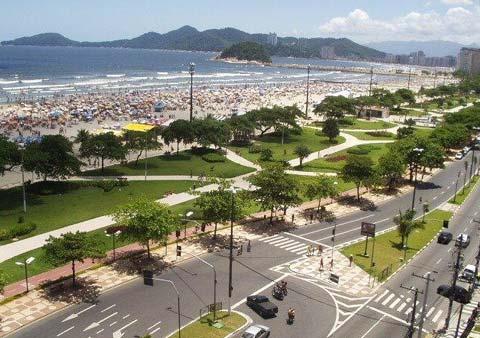 Praia da Pompeia em Santos