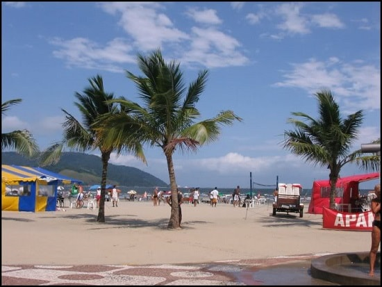 Praia Boqueirao em Santos-SP