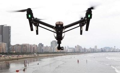 Drones praias de Santos na virada 2018