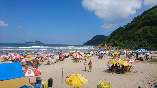 Praia do Tombo no Guaruja