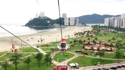 Morro da Asa Delta divisa Santos São-Vicente