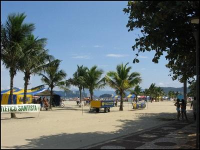 Praia do Boqueirão em Santos