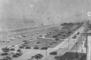 Orla da praia do Gonzaga em 1939