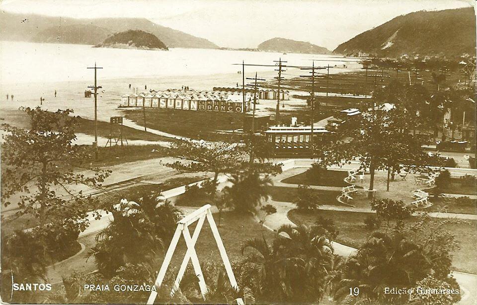 Praia do Gonzaga em 1910