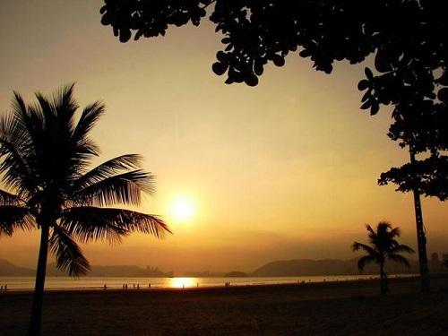 Entardecer Praia do Gonzaga