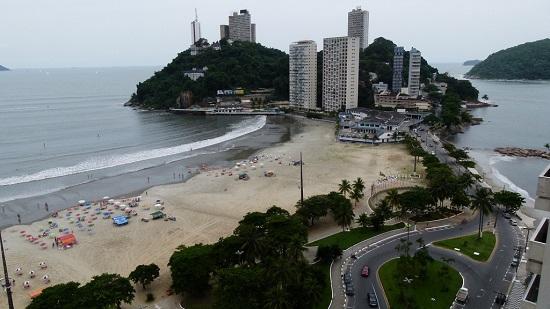 Praia do Itararé em São Vicente