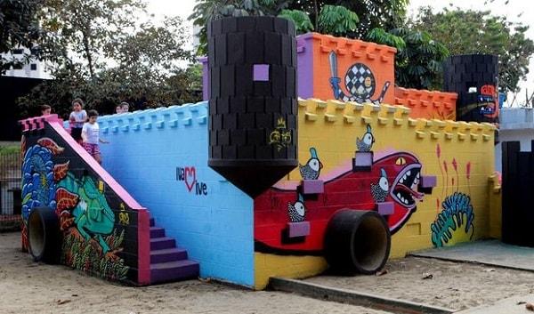 Castelo na praça Rebouças
