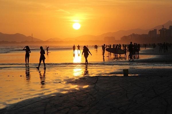 Praia de São Lorenço em Bertioga